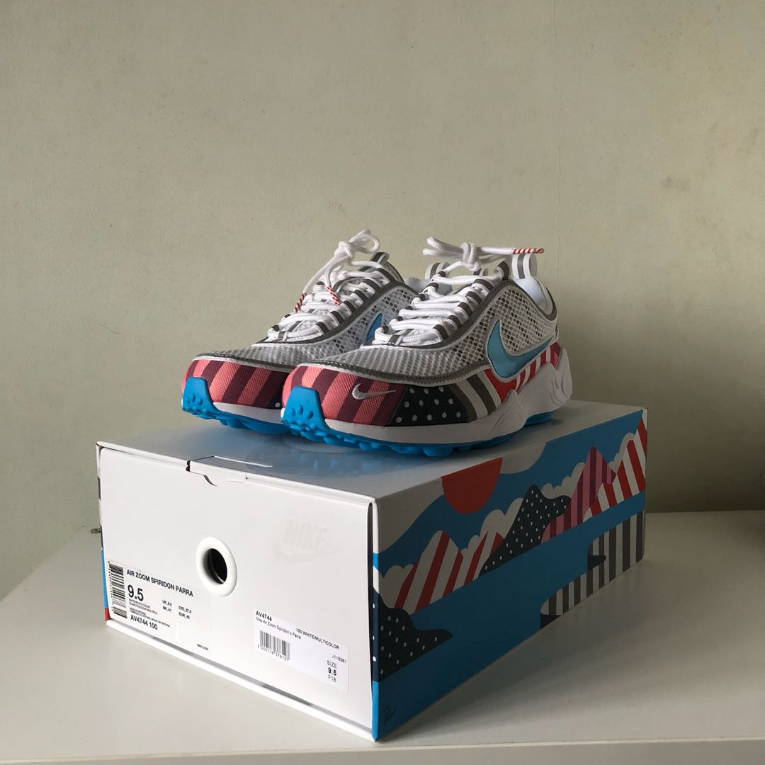 c626cbc2d1 US9.5 NikeLab Air Zoom Spiridon Parra, Men's Fashion, Footwear ...