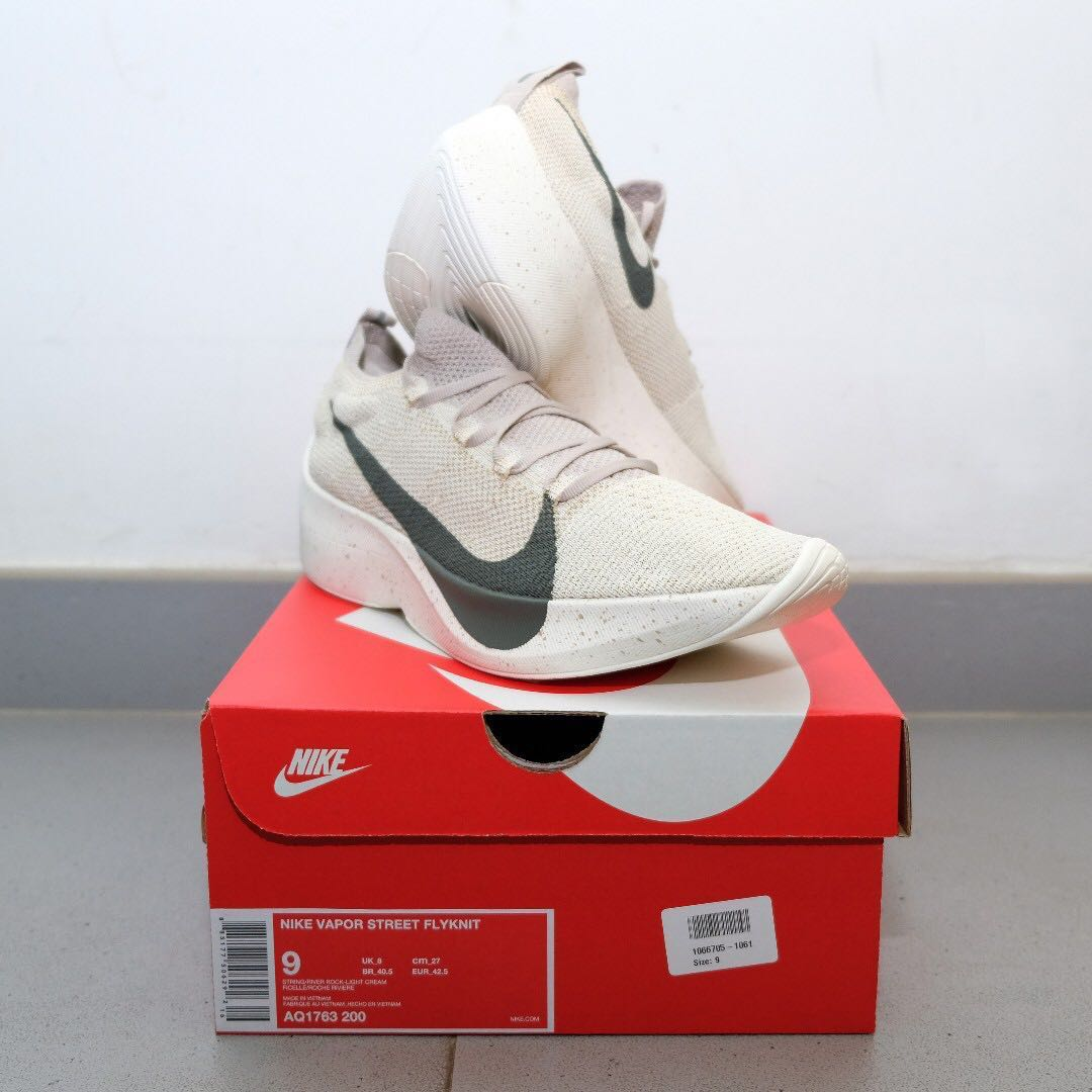 e94e87fae0 US9 Nike Vapor Street Flyknit String Off White Olive, Men's Fashion ...