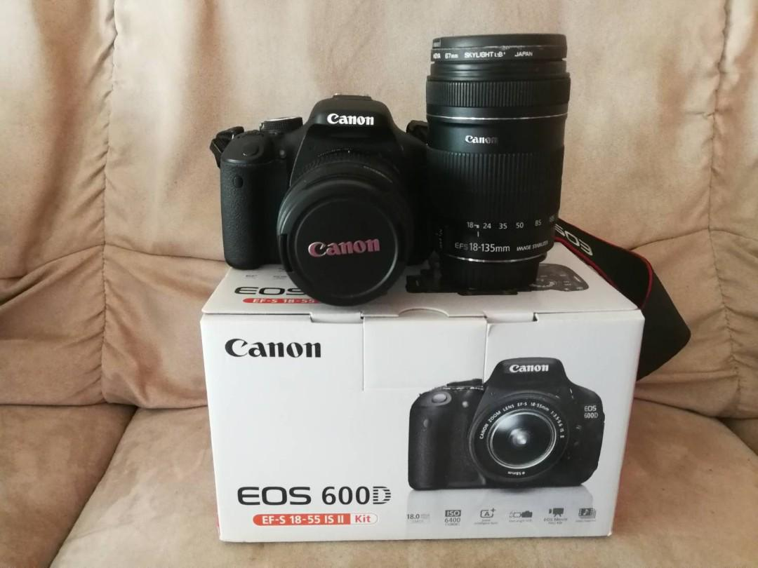 Best price! Used Canon EOS 600D with TWO Kit lens