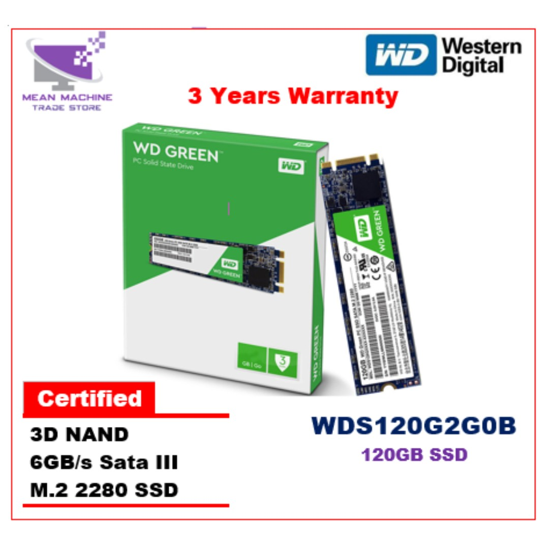 Western Digital 120GB WDS120G2G0B SATA M 2 2280 GREEN SSD