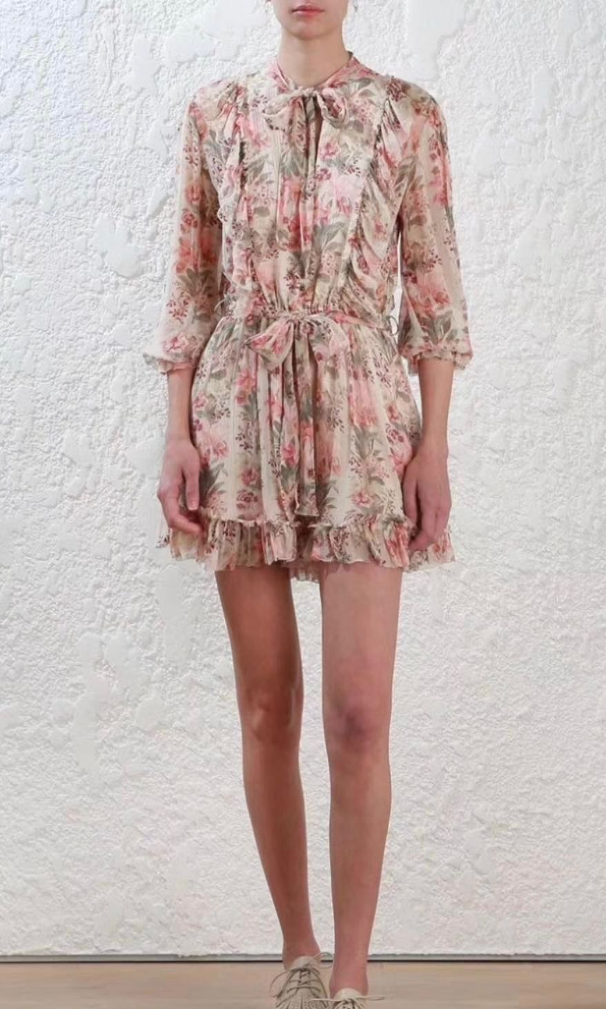 6cd1924e3e9 Zimmermann Folly Neck Tie Playsuit