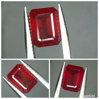 Natural Red Ruby 3.82 carats color cakep