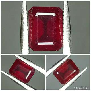 Natural Red Ruby 4.24 carats warna cakep abis top