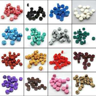 Sealing Wax Beads 16 colors wholesale min one piece 16色火漆蜡粒批发 一粒起卖