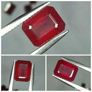 Natural Red Ruby 3.62 carats warna cakep abis