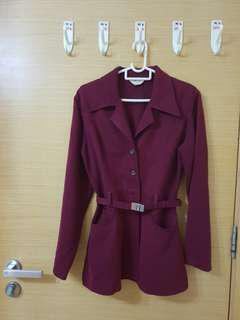 Red Maroon Cotton Jacket
