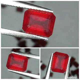 Natural Red Ruby 3.01 carats warna cakep abis