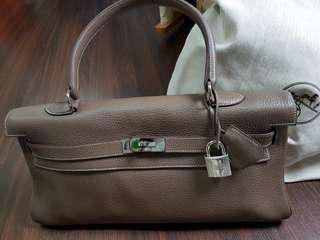 Hermes Kelly Shoulder (42cm) in Etoupe (reduced price)