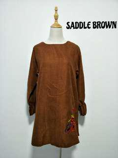 Brown dress/blouse