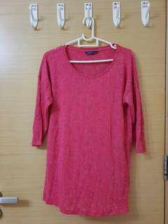 Pink Rose Cotton Blouse