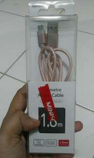 Miniso Rosegold Android Cable