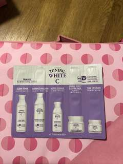 🔥 FREE  Etude House Toning White C Trial Kit