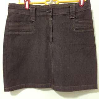 Brown Jeans Skirt