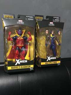 Marvel Legends xmen multiple man and gladiator