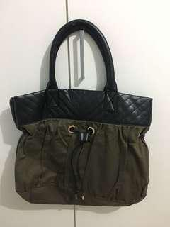 Bag / tas green army black