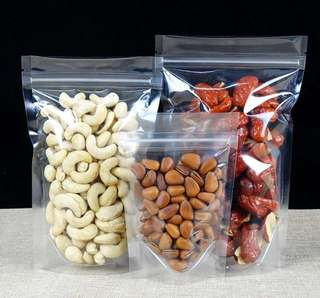 Stand Up Clear Pouch with Ziplock