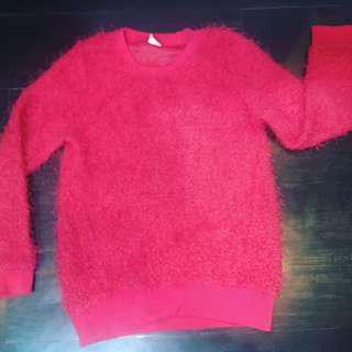 Hot Pink Fur Sweater