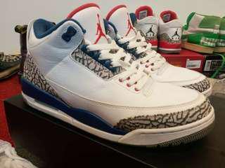 Original Air Jordan 3 OG True Blue Nike Adidas