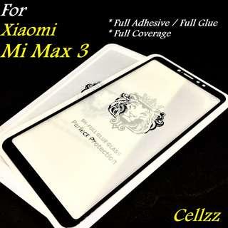 Mi Max 3 Full Adhesive Tempered Glass Protector