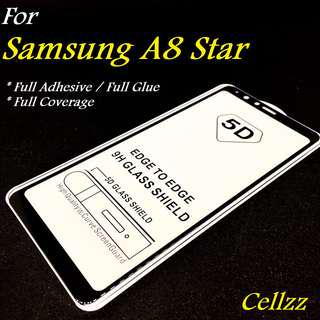 Samsung A8 Star Full Adhesive Tempered Glass Protector