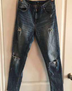 H&M Distressed Skinny Jeans