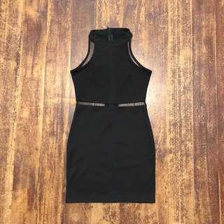 Black formal dress/ cut out dress (semi mesh)