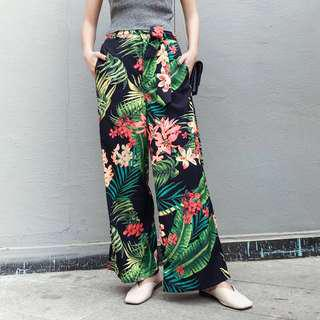 Hawaiian Boho Floral Pants