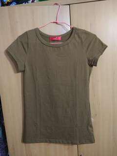 🚚 兩件免運。全新焦糖棉質舒適彈性短袖上衣T恤