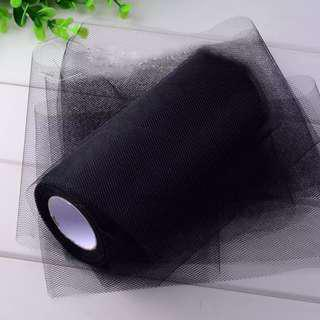 15cm X 25 Yards Tulle Roll for Party Supply Wedding Decor (Black)