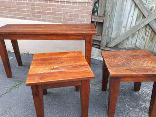 Solid wood heavy tables