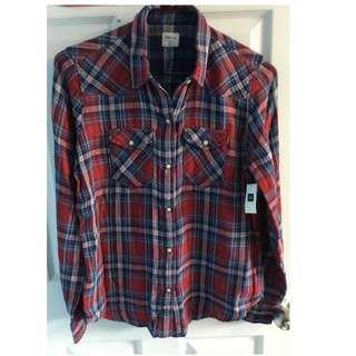 Plaid Boyfriend Shirt by Gap