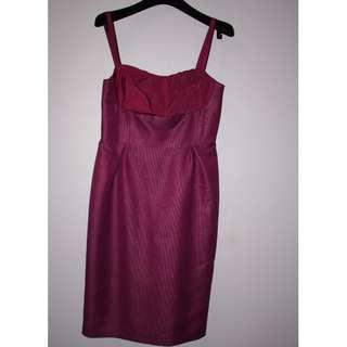 LISA BADAY Fuschia Purple Formal dress - Size 8 - BNWT