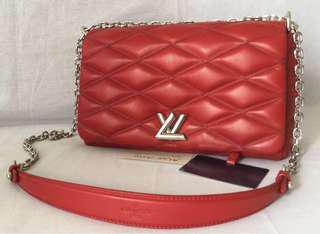 Authentic Kept never used Red LV - Louis Vuitton Go-14 MM