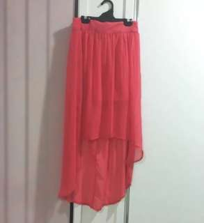 Coral Hi Low Skirt - Size 8