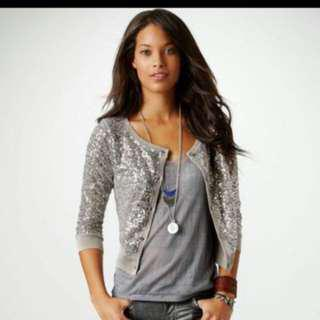 American Eagle Outfitters sequins cardi