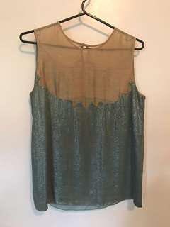 Designer silk & sequin top