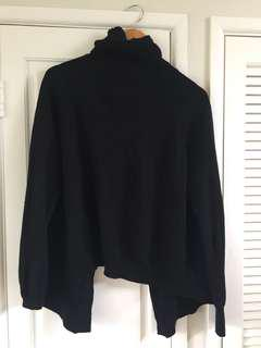 Open back turtle neck