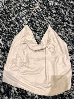 Cowl Neck Backless Top