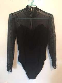 Lace & mesh bodysuit
