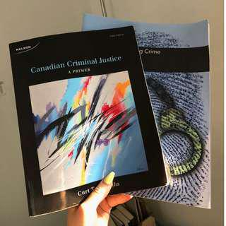 "SELLING ""Canadian Criminal Justice: A Primer"" + ""Counting Crime"""