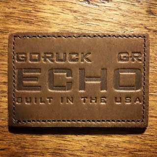 GoRuck Echo Leather Patch