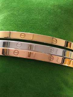 Cartier Inspired Stainless Trio Bangle