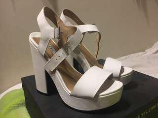 SIREN WHITE HEELS (WORN ONCE)