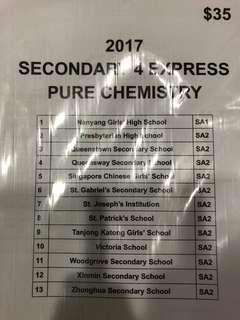 2017 Secondary 4 Chemistry End of Year Papers