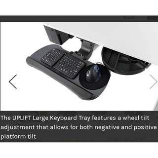 Large Height-Adjustable Keyboard Tray