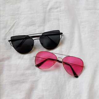 ❤ PRELOVED ❤ Black Sunnies (PINK SUNNIES SOLD)