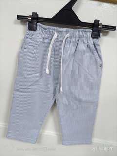 🚚 韓國男童裝  七分直條牛仔棉褲