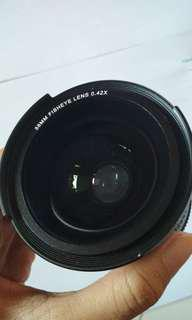 Fisheye wide lense 58mm 0.42x