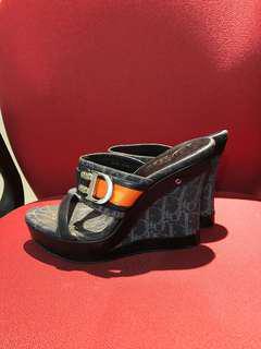 💯Authentic Original Christian Dior Monogram Flight Wedge Shoes