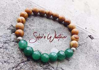 Faceted Jade and Picture Jasper